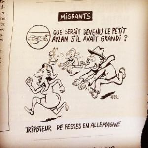 Pai de menino afogado diz que charge do Charlie Hebdo é desumana