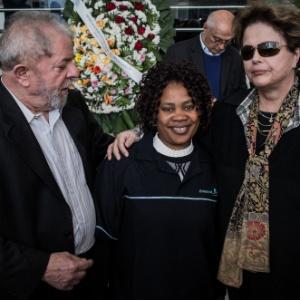 Lula e Dilma são tietados por funcionários da Alesp durante velório