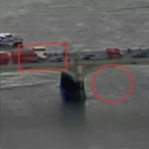 Vídeo flagra momento em que mulher cai de ponte durante ataque
